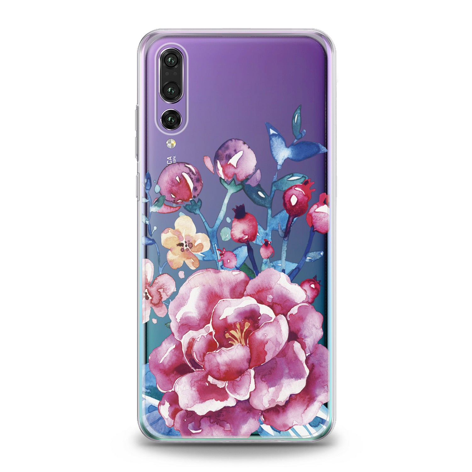 Lex Altern Bright Pink Peonies Huawei Honor Case