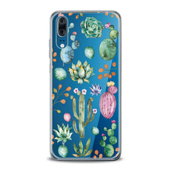 Lex Altern TPU Silicone Huawei Honor Case Green Cactuses