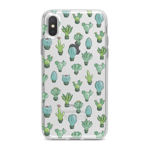 Lex Altern Cute Cactus Patern Phone Case for your iPhone & Android phone.