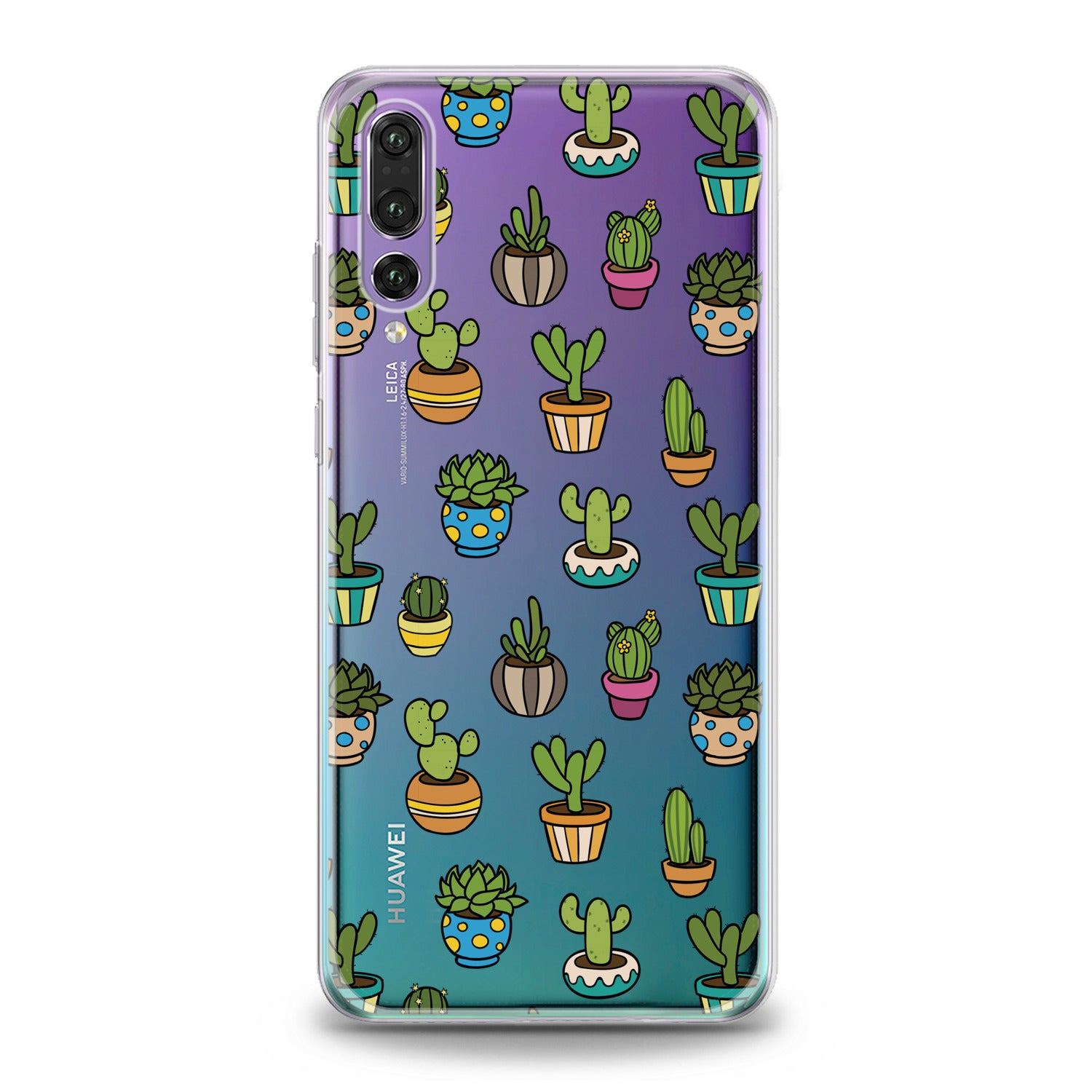 Lex Altern Painted Cactuses Huawei Honor Case