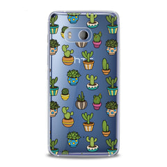 Lex Altern TPU Silicone HTC Case Painted Cactuses
