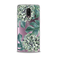 Lex Altern TPU Silicone OnePlus Case Green Leaves Bloom