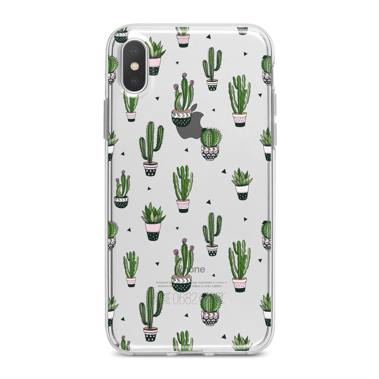 Lex Altern Simple Green Cactus Phone Case for your iPhone & Android phone.