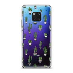 Lex Altern TPU Silicone Huawei Honor Case Simple Green Cactus