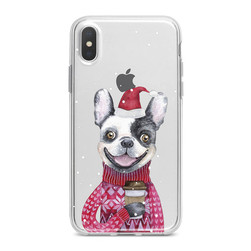 Lex Altern Happy Dog Santa Phone Case for your iPhone & Android phone.