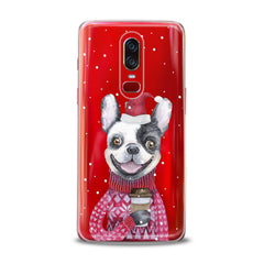 Lex Altern TPU Silicone OnePlus Case Happy Dog Santa