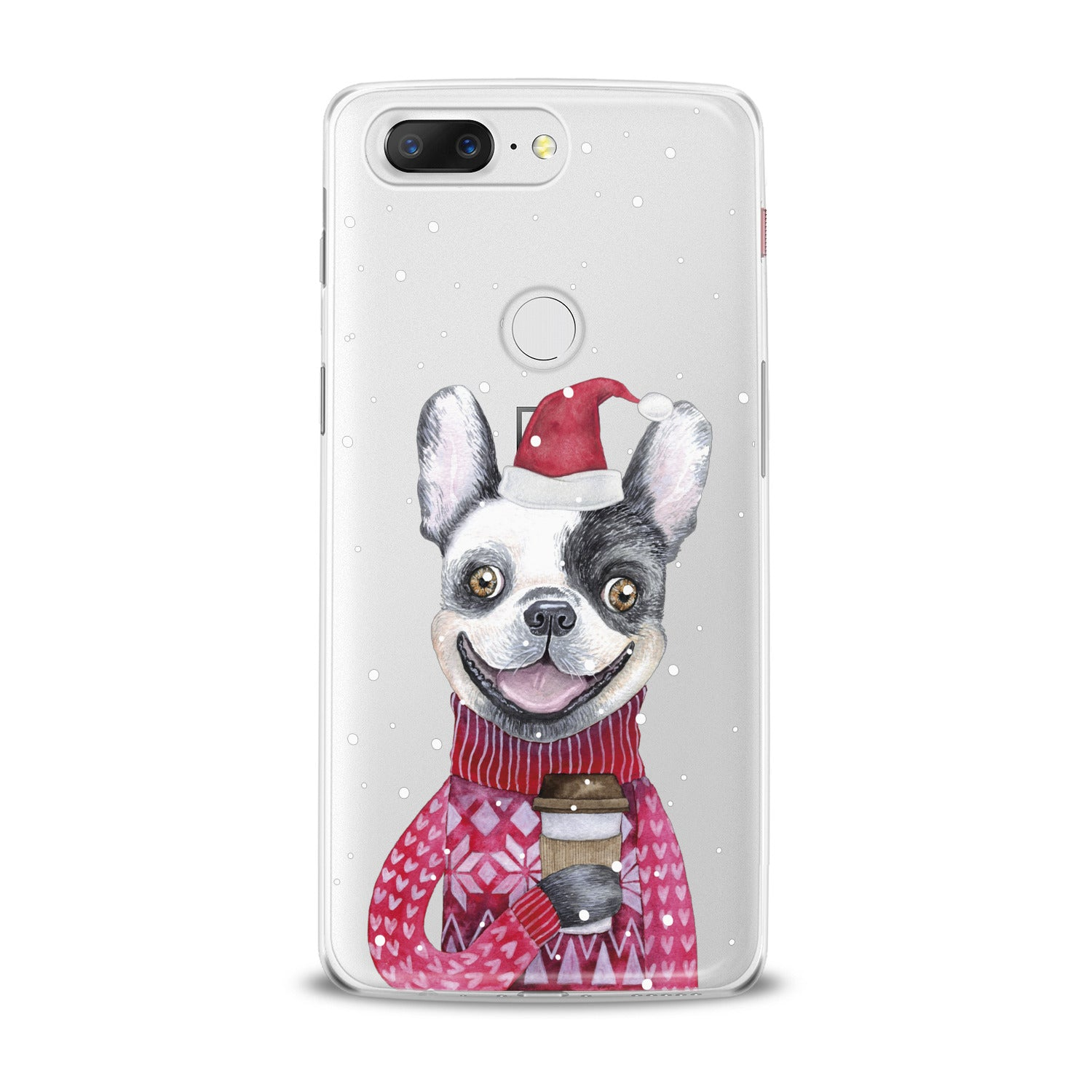 Lex Altern Happy Dog Santa OnePlus Case