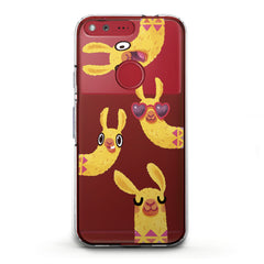 Lex Altern TPU Silicone Phone Case Funny Yellow Llama