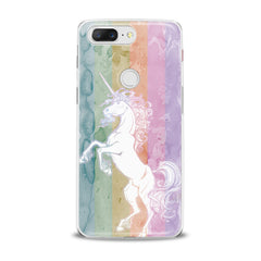Lex Altern Watercolor Cute Unicorn OnePlus Case