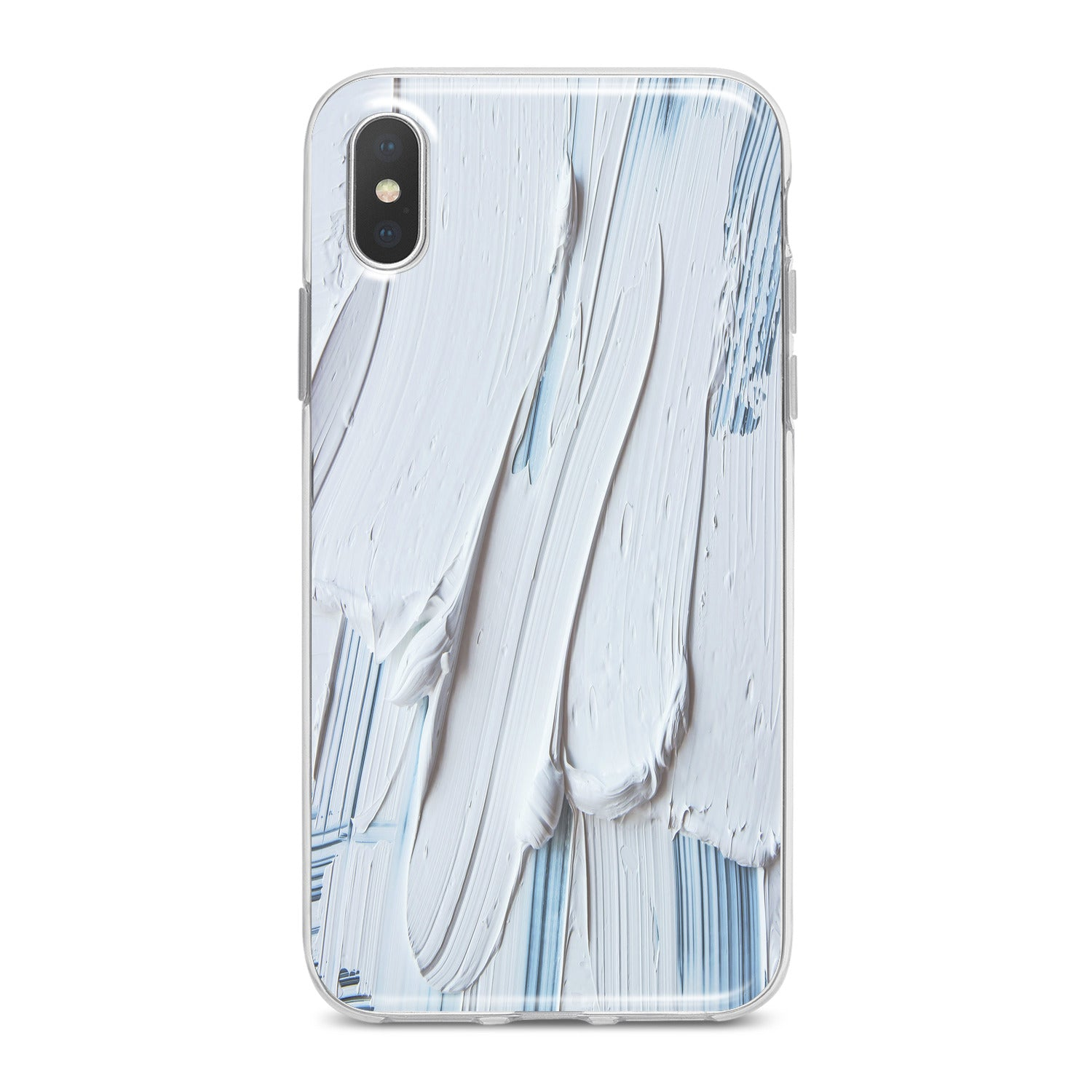 Lex Altern White Gouache Pattern Phone Case for your iPhone & Android phone.