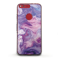 Lex Altern TPU Silicone Phone Case Abstract Violet Print