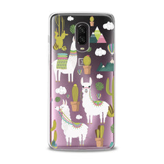 Lex Altern TPU Silicone Phone Case White Llama Pattern