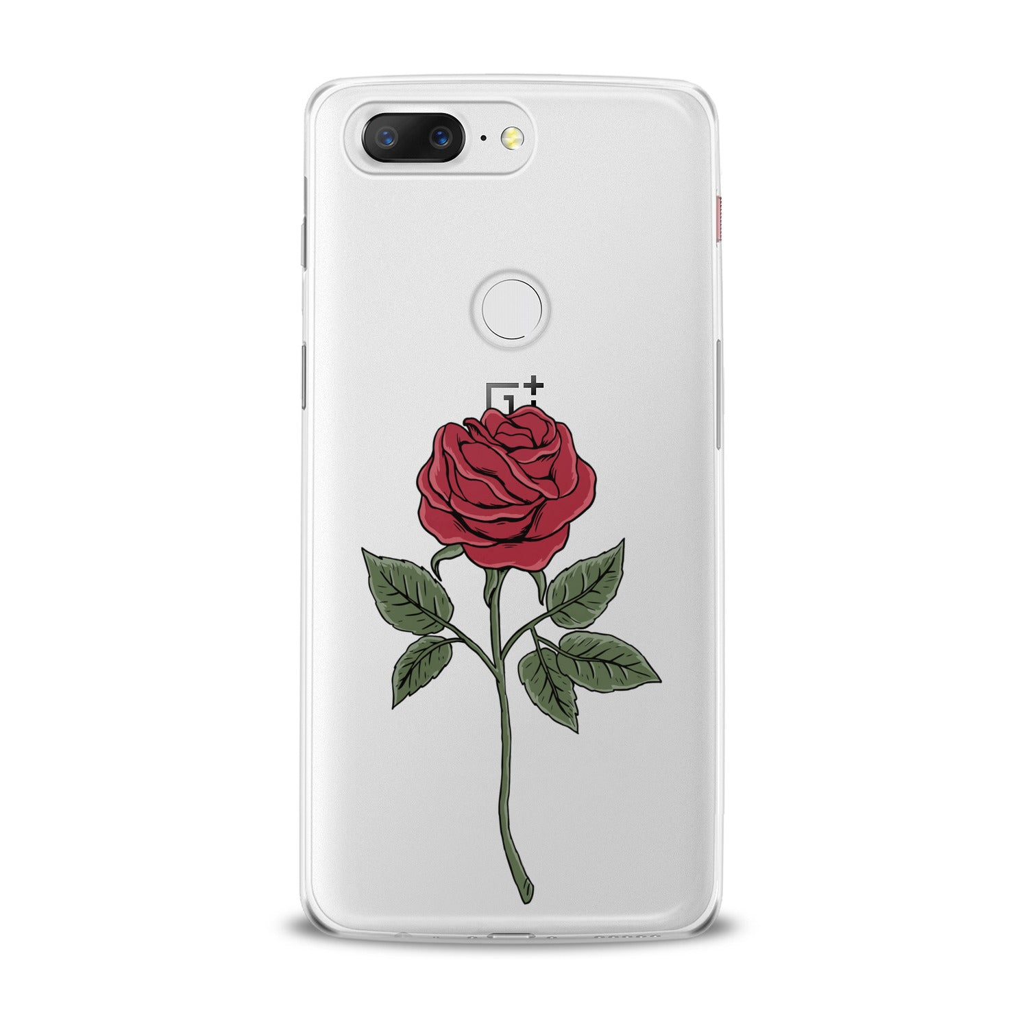 Lex Altern Red Printed Rose OnePlus Case