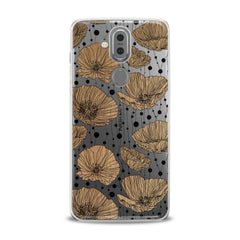 Lex Altern TPU Silicone Phone Case Contoured Poppies