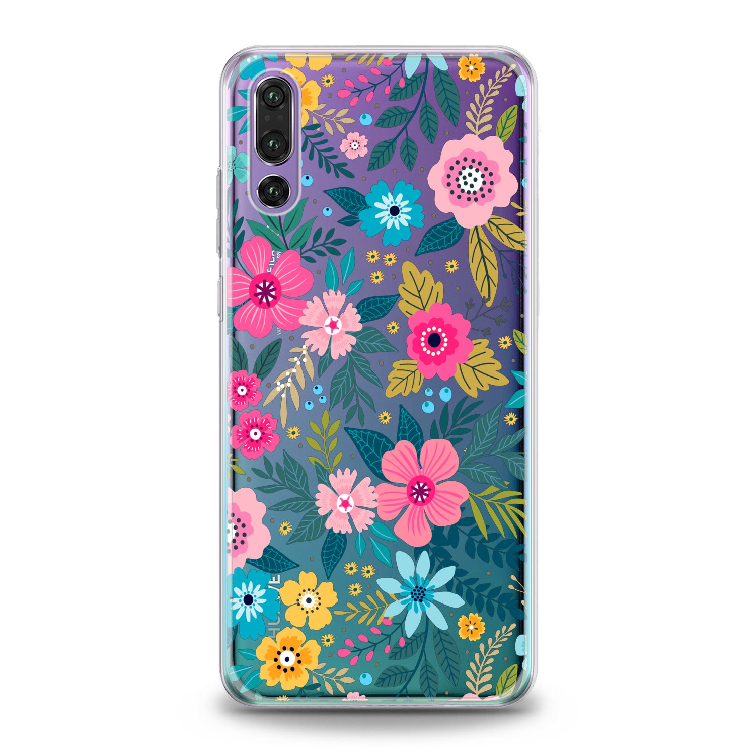 Lex Altern Graphical Colored Flowers Huawei Honor Case