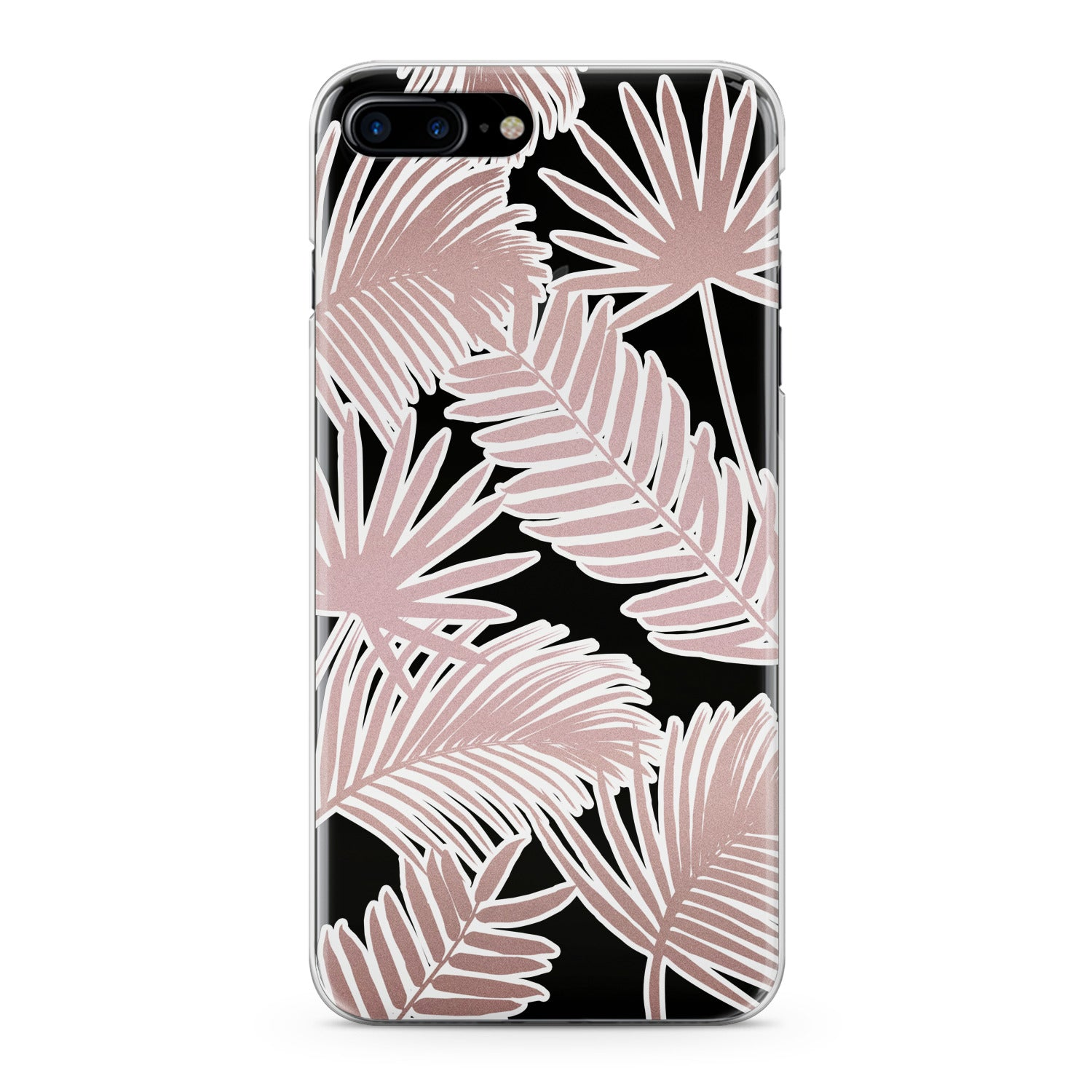 Lex Altern Pink Leaves Phone Case for your iPhone & Android phone.