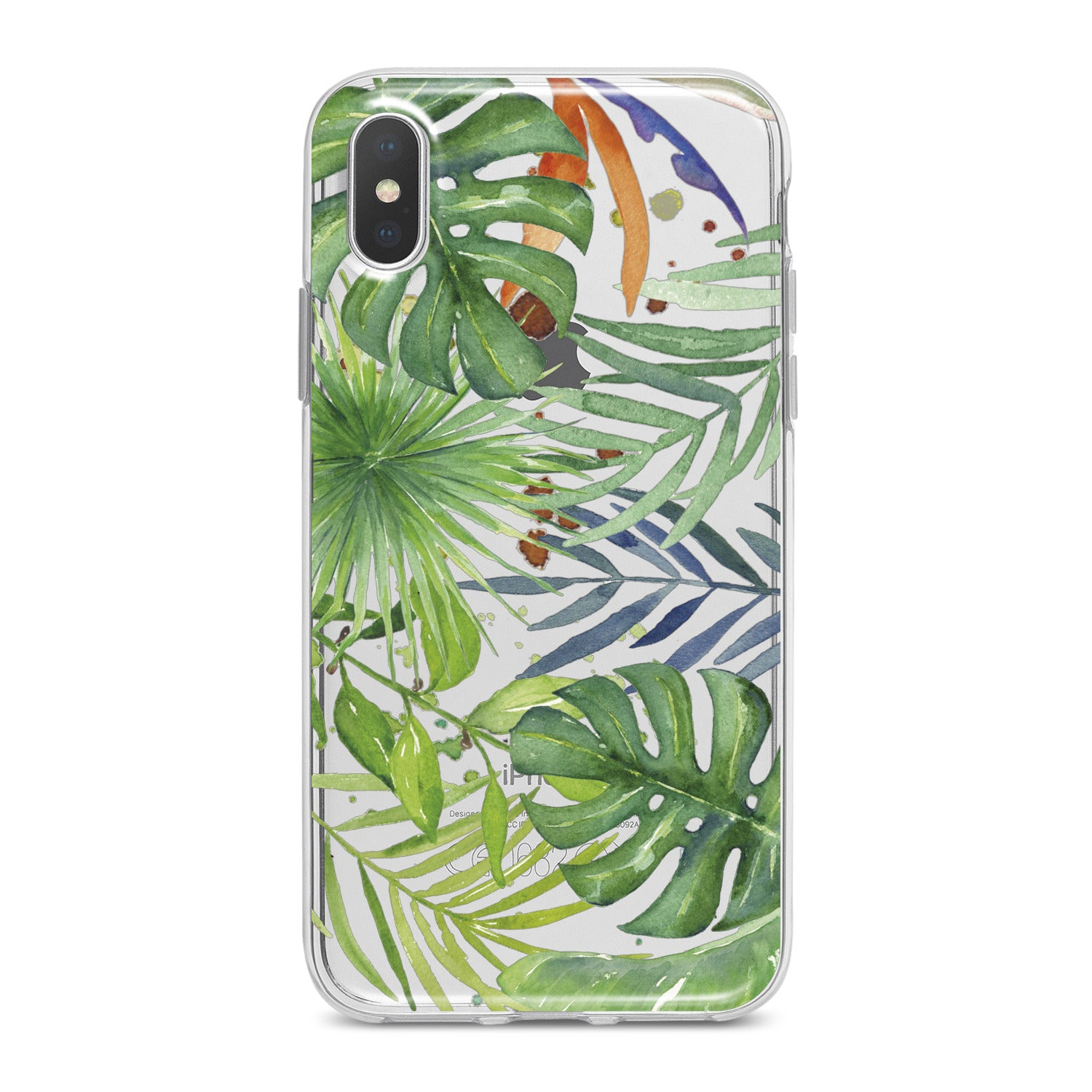 Lex Altern Green Monstera Pattern Phone Case for your iPhone & Android phone.