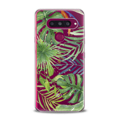 Lex Altern TPU Silicone Phone Case Green Monstera Pattern