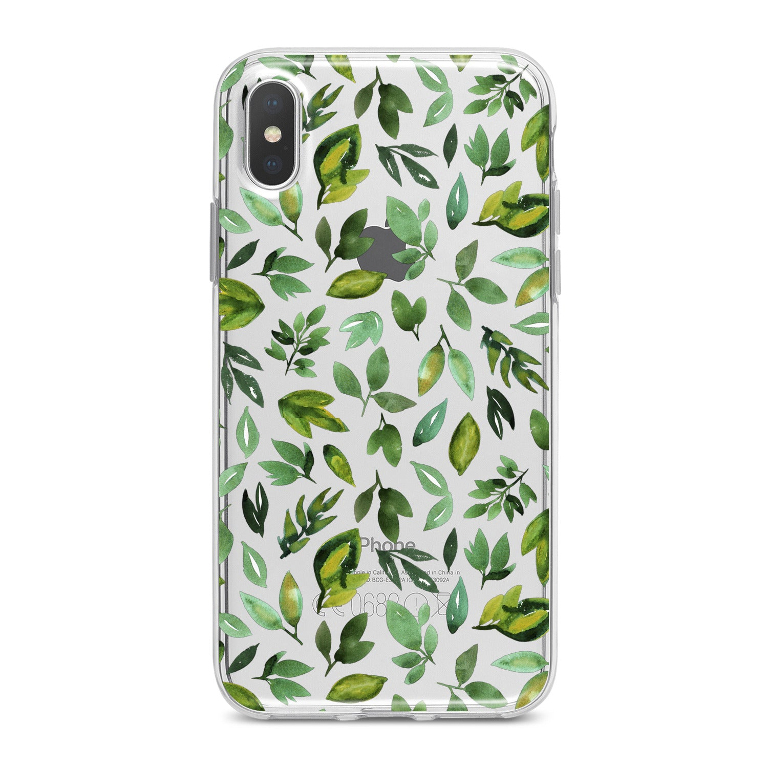 Lex Altern Simple Green Leaves Phone Case for your iPhone & Android phone.