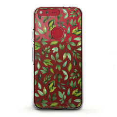 Lex Altern TPU Silicone Phone Case Simple Green Leaves