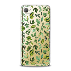 Lex Altern TPU Silicone HTC Case Simple Green Leaves