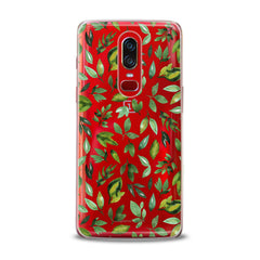 Lex Altern TPU Silicone OnePlus Case Simple Green Leaves