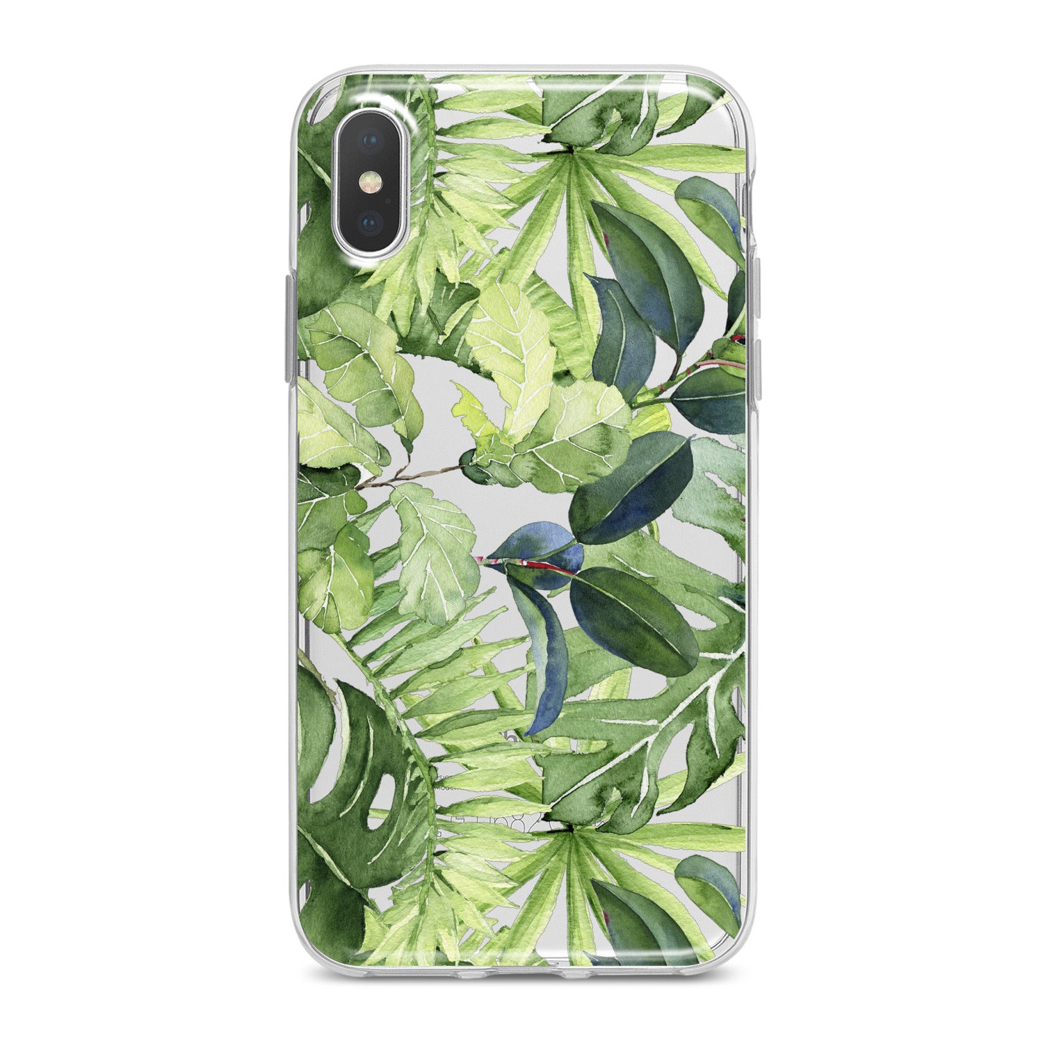 Lex Altern Abstract Green Leaves Phone Case for your iPhone & Android phone.