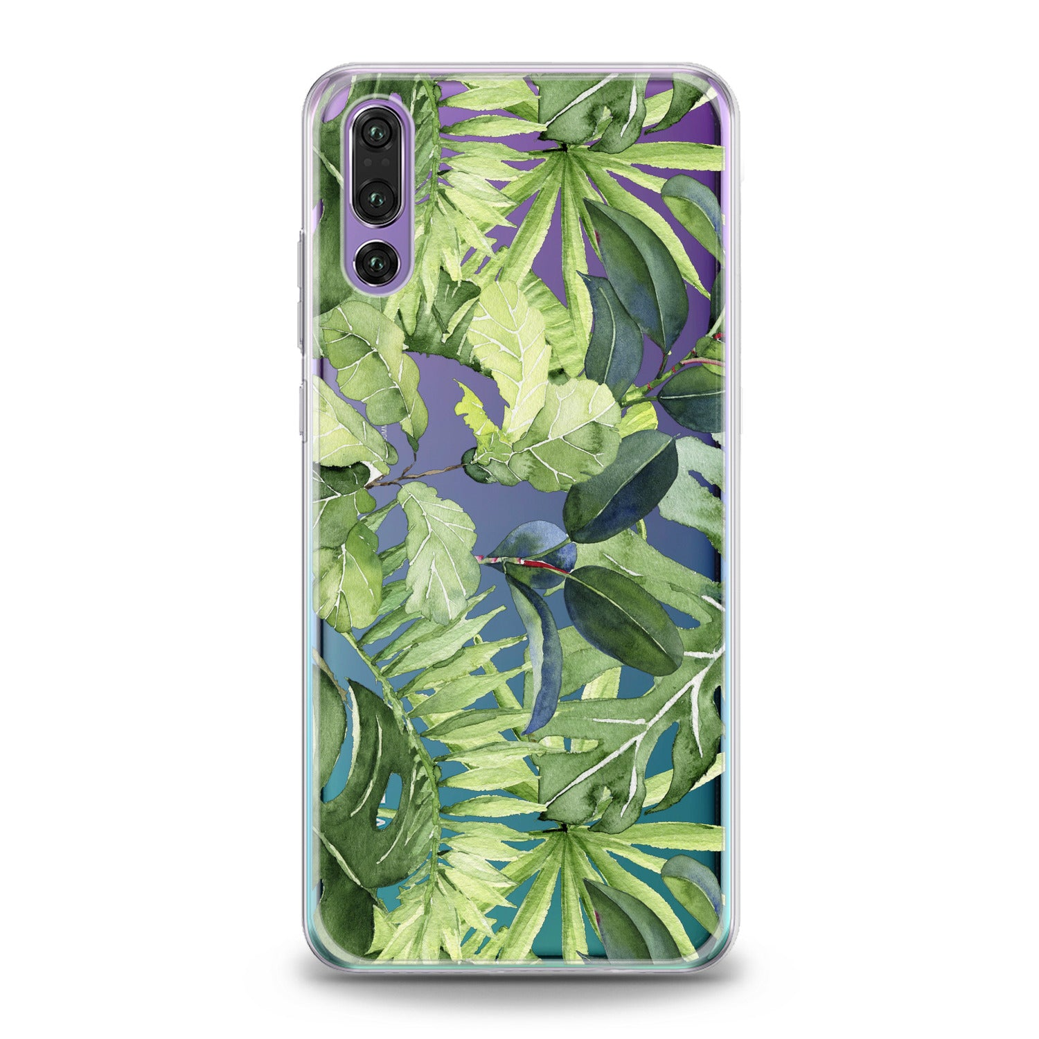 Lex Altern Abstract Green Leaves Huawei Honor Case