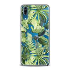 Lex Altern TPU Silicone Huawei Honor Case Abstract Green Leaves