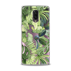 Lex Altern TPU Silicone Phone Case Abstract Green Leaves