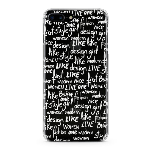 Lex Altern White Quotes Theme Phone Case for your iPhone & Android phone.