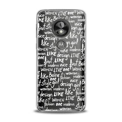 Lex Altern TPU Silicone Phone Case White Quotes Theme