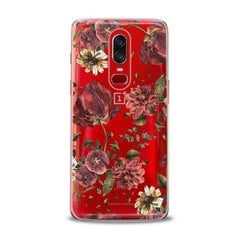 Lex Altern TPU Silicone OnePlus Case Painted Red Flowers