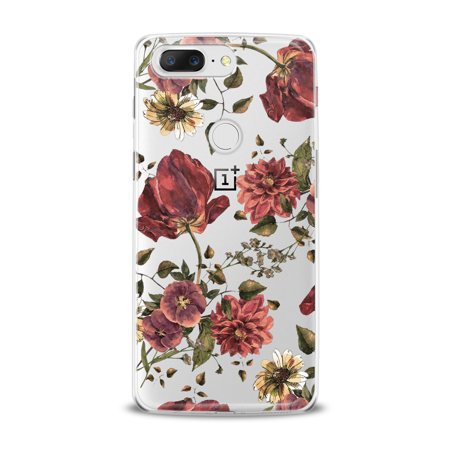 Lex Altern Painted Red Flowers OnePlus Case
