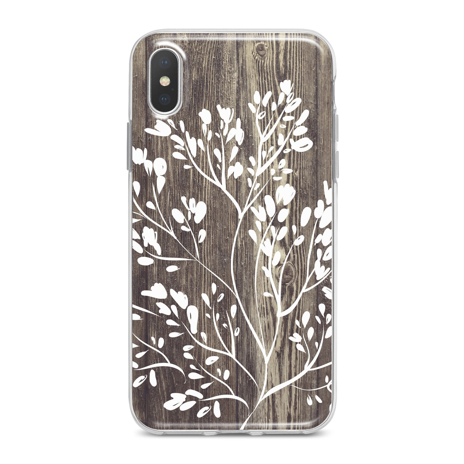 Lex Altern White Tree Pattern Phone Case for your iPhone & Android phone.