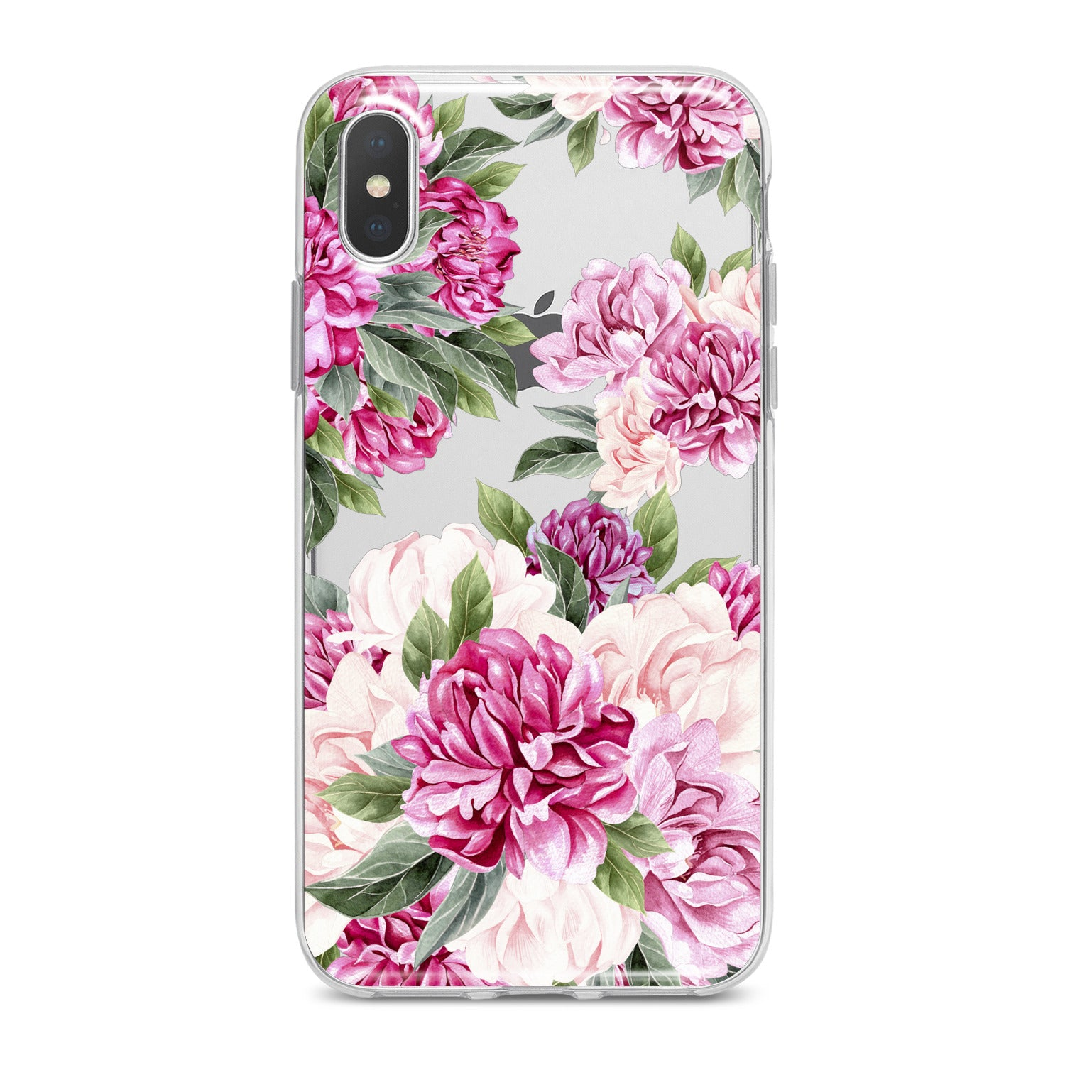 Lex Altern Awesome Peonies Pattern Phone Case for your iPhone & Android phone.