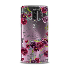 Lex Altern TPU Silicone OnePlus Case Red Flowers Theme