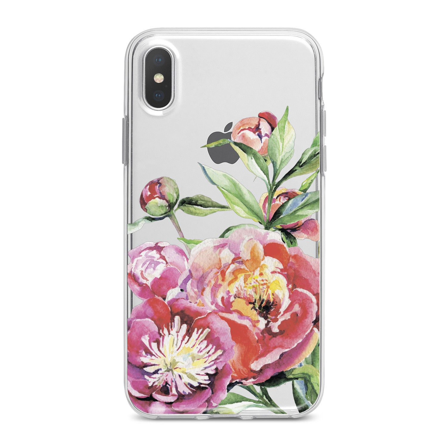 Lex Altern Garden Peony Pattern Phone Case for your iPhone & Android phone.