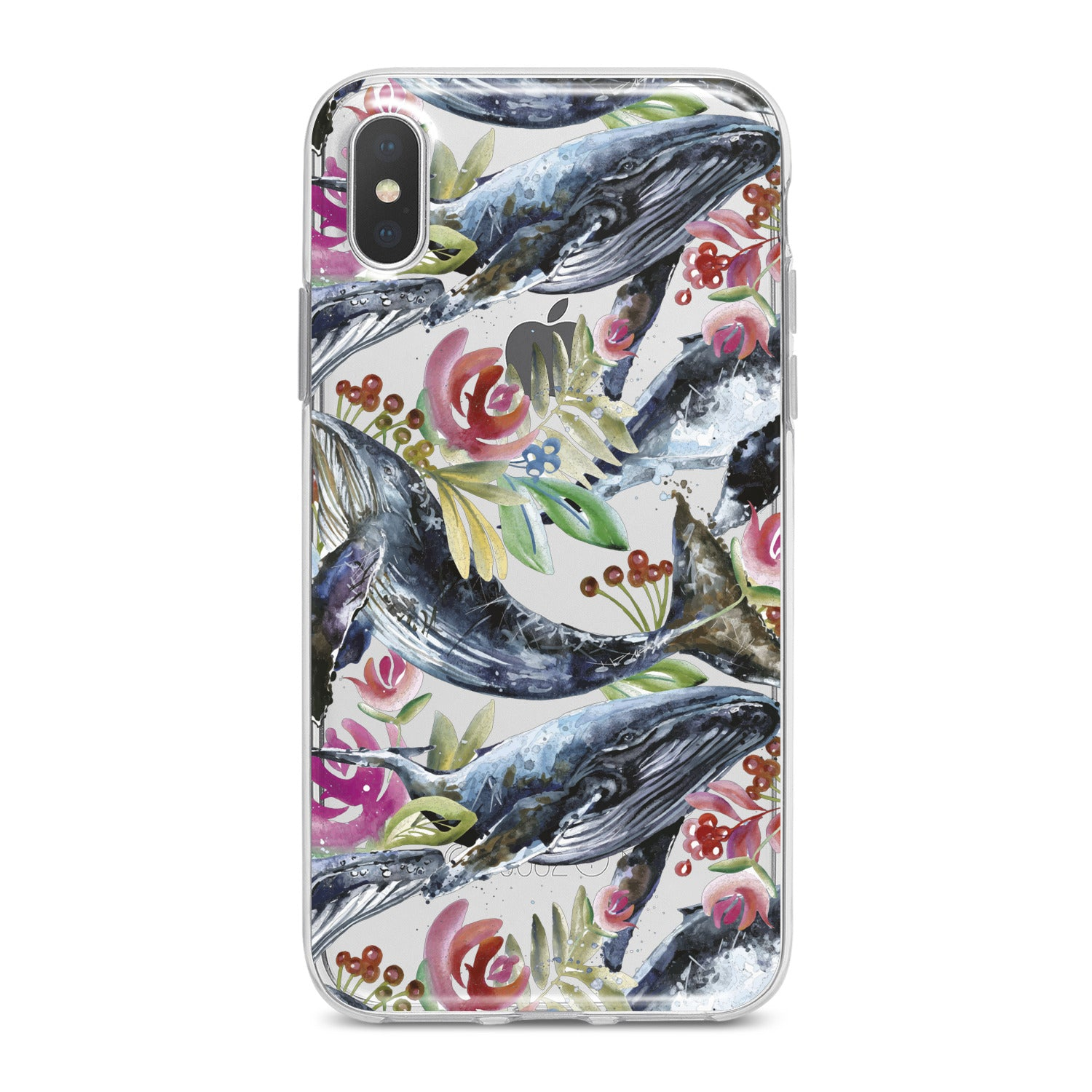 Lex Altern Blue Whale Pattern Phone Case for your iPhone & Android phone.