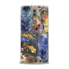 Lex Altern TPU Silicone Phone Case Bright Feather Theme