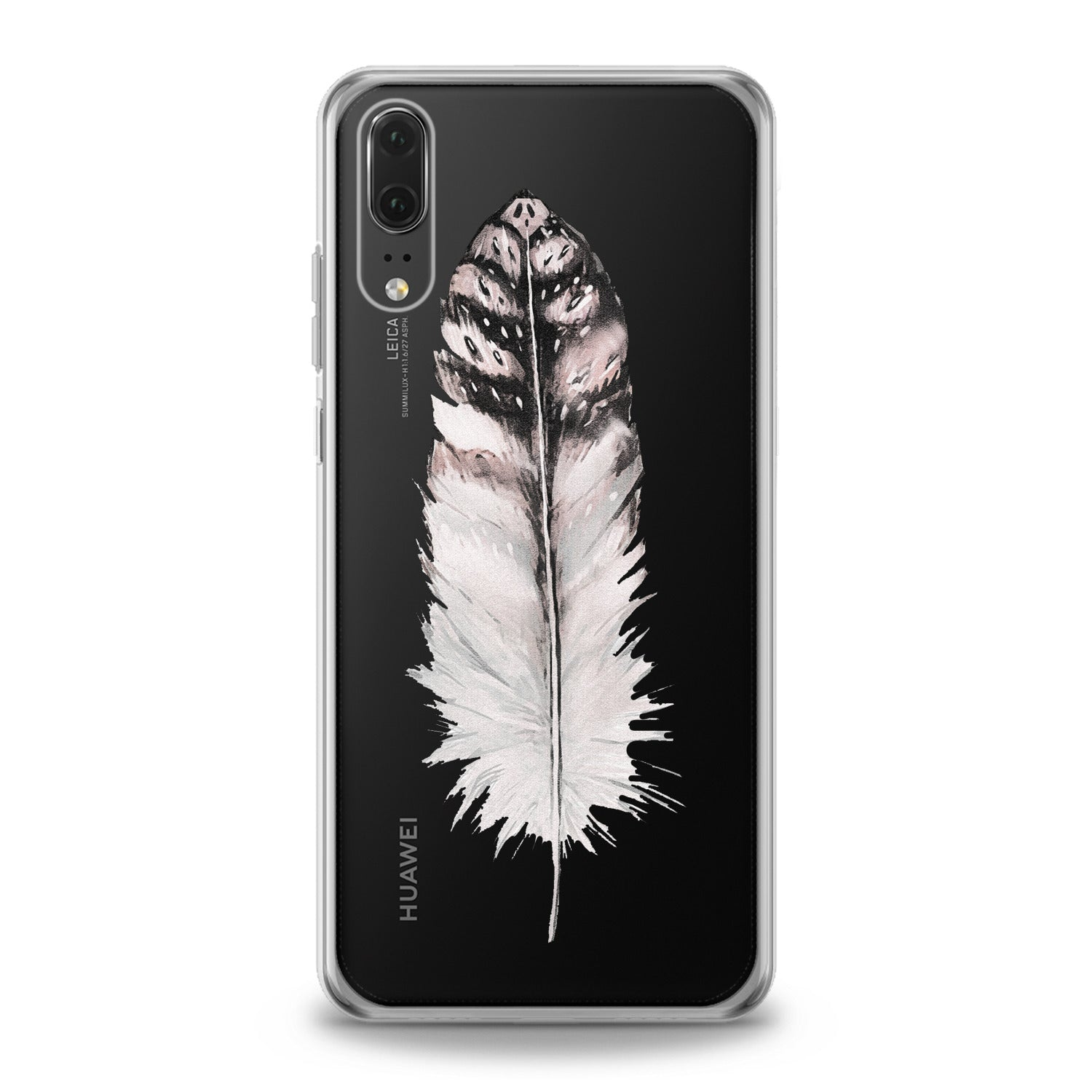 Lex Altern Elegant Feather Theme Huawei Honor Case