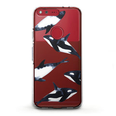 Lex Altern TPU Silicone Phone Case Whale Family