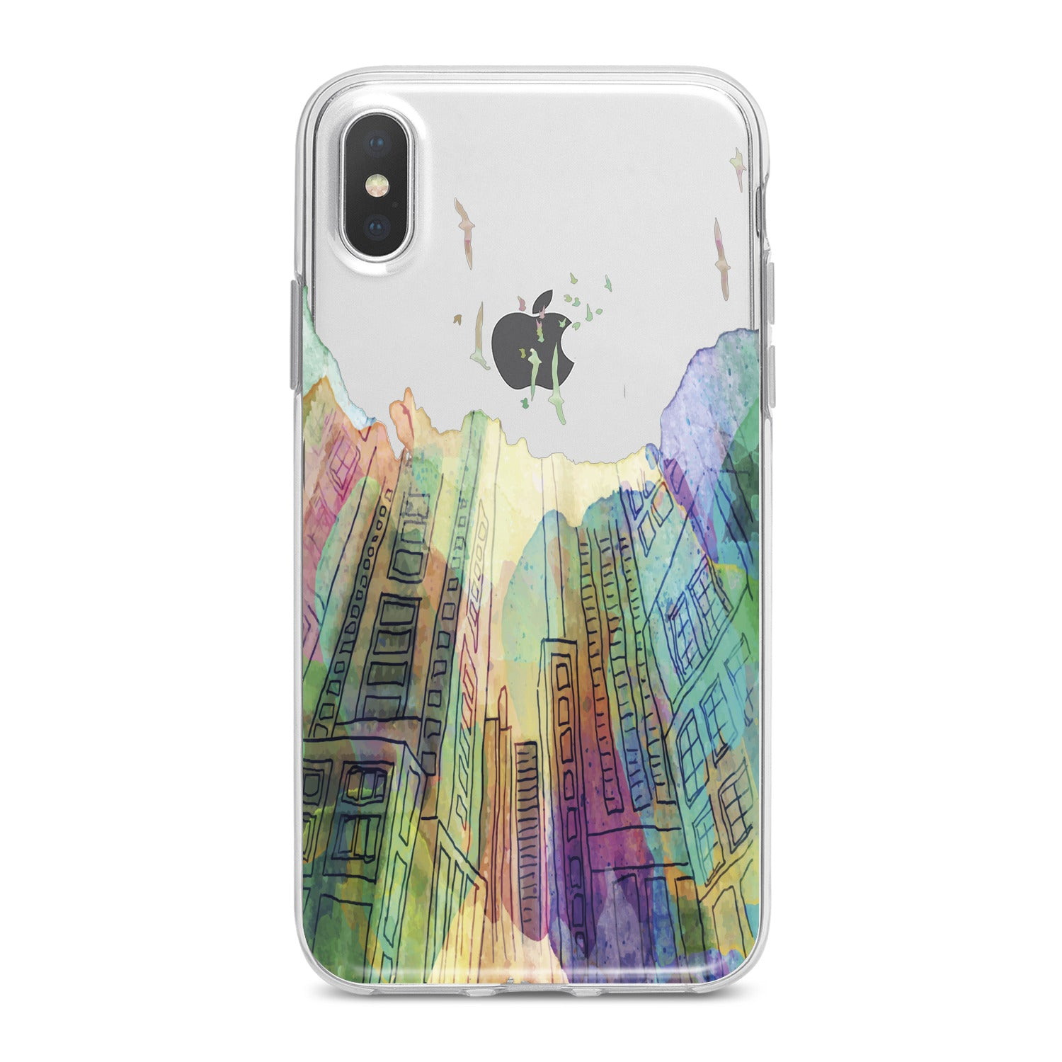 Lex Altern Watercolor City Phone Case for your iPhone & Android phone.