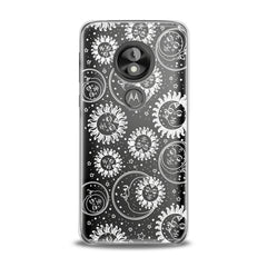 Lex Altern TPU Silicone Phone Case White Celestial Pattern