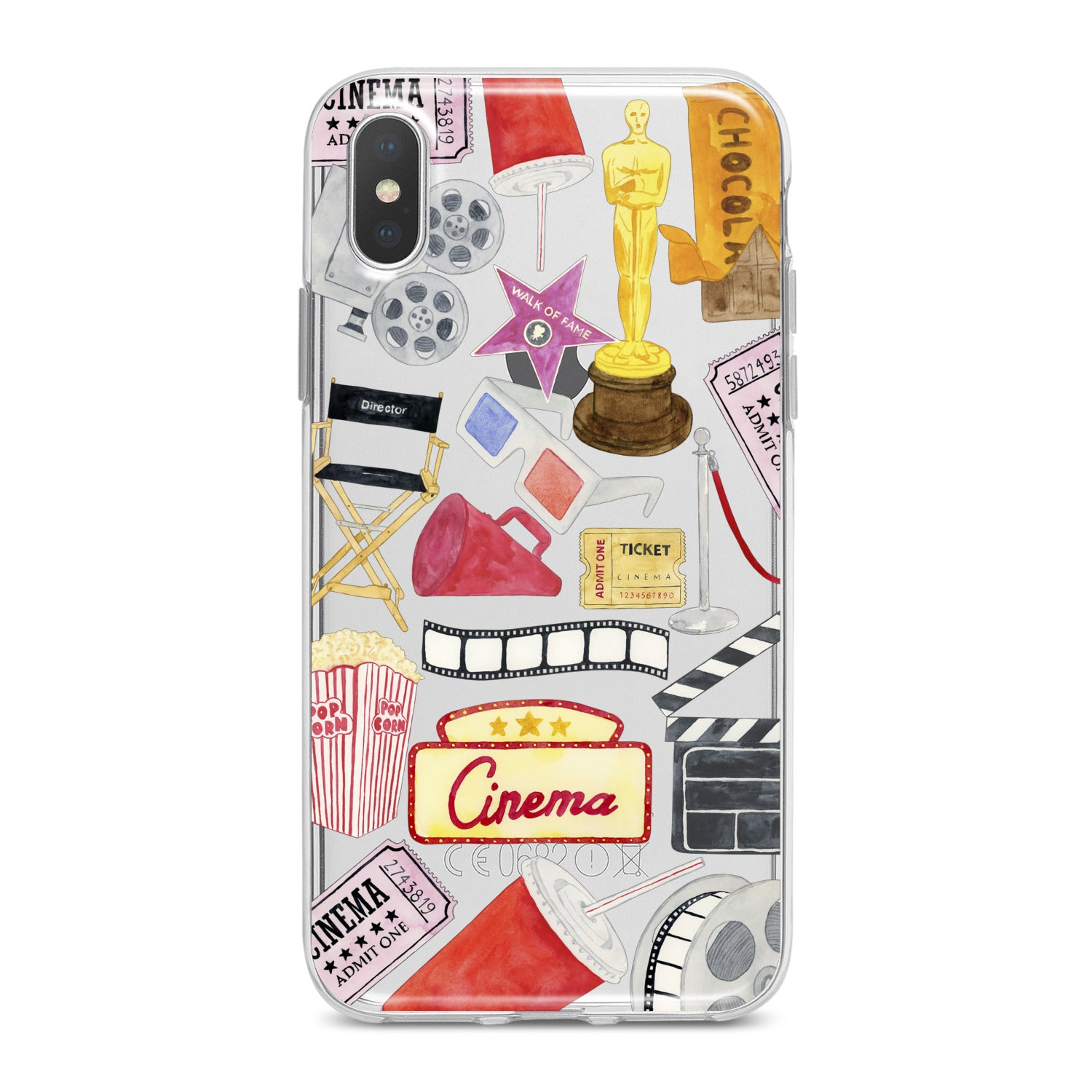 Lex Altern Cinema Pattern Phone Case for your iPhone & Android phone.