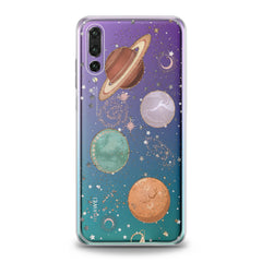 Lex Altern TPU Silicone Huawei Honor Case Shiny Planets
