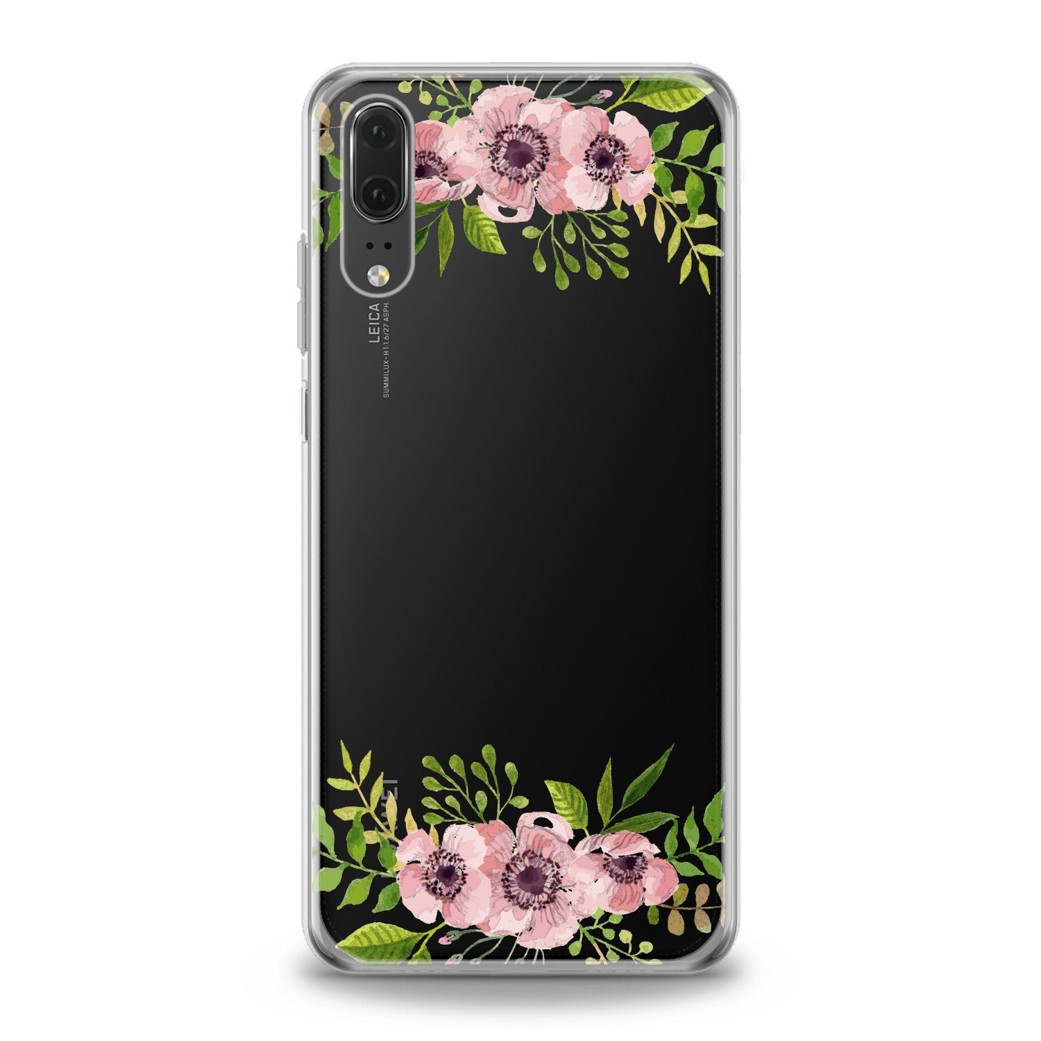 Lex Altern Pink Flowers Huawei Honor Case