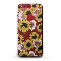 Lex Altern TPU Silicone Phone Case Sunflower Pattern