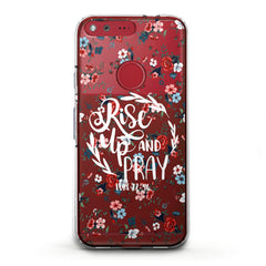Lex Altern TPU Silicone Phone Case Rise Up and Pray
