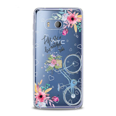 Lex Altern TPU Silicone HTC Case Bicycle Quote